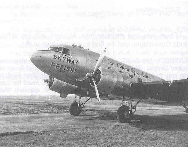 Notice that the above DC-3 carries both the National Skyway Freight and the Flying Tiger Lines Name. There was early confusion about their name.